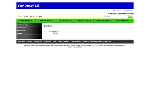 Screenshot of Site Map Page yourdomain123.com - Sitemap - captured Oct. 27, 2014