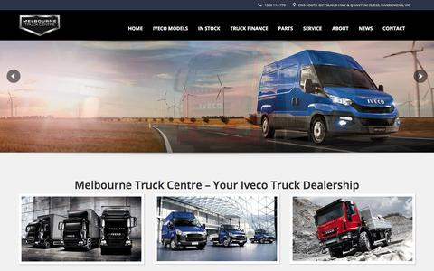Screenshot of Home Page melbournetruckcentre.com.au - Iveco Truck Dealership   Iveco Trucks Australia   Melbourne Truck Centre - captured July 27, 2018