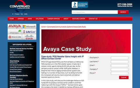 Screenshot of Case Studies Page convergedsystems.com - IP Office Contact Center Case Study | Converged Systems - captured Dec. 5, 2015