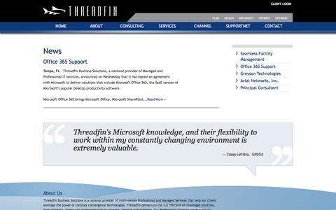 Screenshot of Press Page threadfin.com - Threadfin Business Solutions News « - captured Dec. 23, 2016