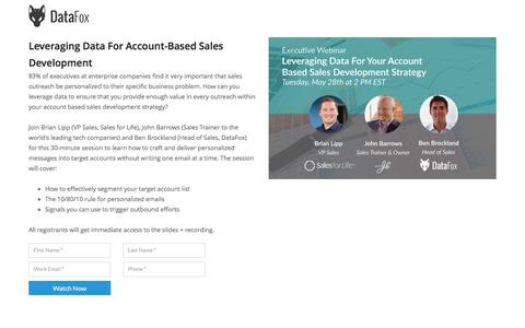 Leveraging Data For Account-Based Sales Development