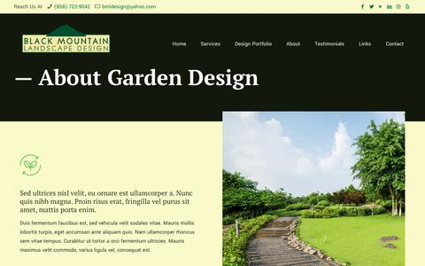 Screenshot of About Page blackmountain-ld.com - — About Garden Design - Black Mountain Landscape Design - captured Nov. 14, 2018