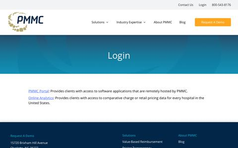 Screenshot of Login Page pmmconline.com - Login | PMMC - captured June 23, 2018