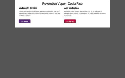 Screenshot of Login Page revvapor.com - Account | revolution vapor | Costa Rica - captured Oct. 1, 2014