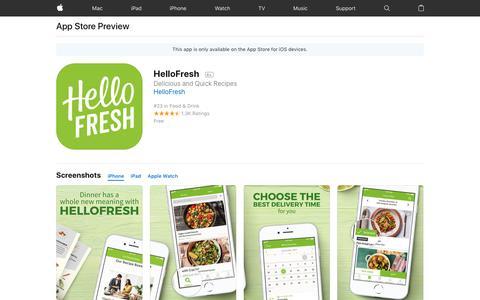 HelloFresh on the AppStore