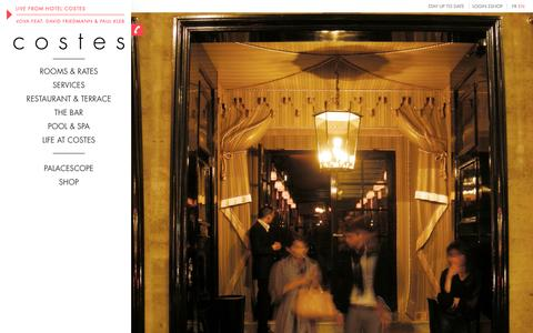 Screenshot of Home Page hotelcostes.com - hôtel costes - captured Sept. 25, 2014