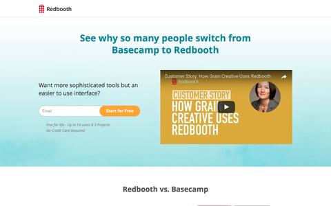 Screenshot of Landing Page redbooth.com - Online Project Management Software - captured March 28, 2017