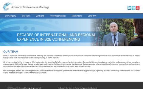 Screenshot of Team Page acm-events.com - ACM - Advanced Conferences & Meetings   Our Team - captured Nov. 20, 2016