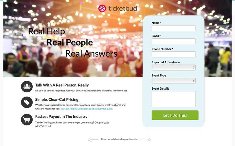 Ticketbud Live Demo