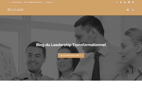 Screenshot of Blog beandlead.com - Blog - Leadership Transformationnel - captured Feb. 7, 2016