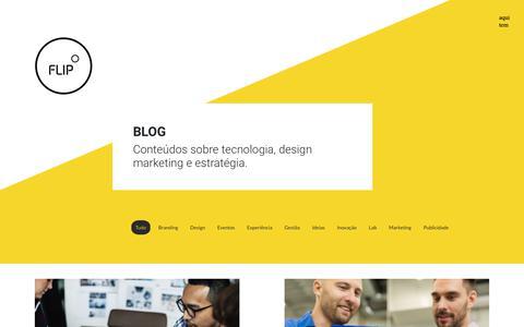 Screenshot of Blog fliplab.com.br - Blog Archive - Flip Lab - captured Dec. 10, 2018