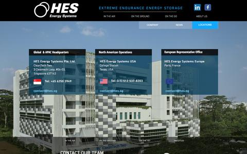 Screenshot of Locations Page hes.sg - CONTACT US | HORIZON ENERGY SYSTEMS - captured Sept. 2, 2017