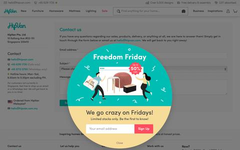 Screenshot of Contact Page hipvan.com - Contact Us | HipVan - captured April 18, 2019