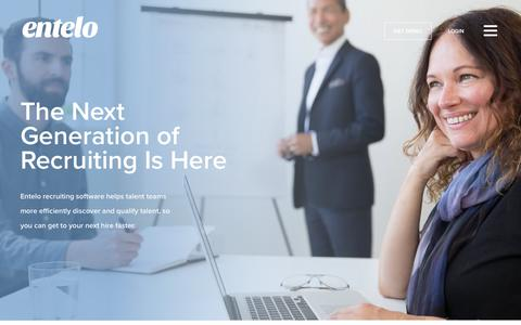 Screenshot of Products Page entelo.com - Recruiting Software | Entelo - captured Oct. 9, 2017