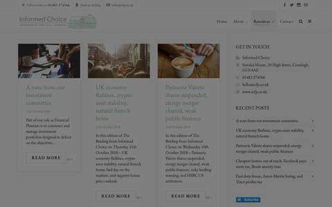 Screenshot of Blog icfp.co.uk - Blog - Informed Choice - captured Oct. 12, 2018
