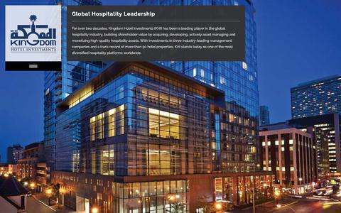 Screenshot of Home Page kingdomhotels.com - Kingdom Hotel Investments - captured Jan. 22, 2016