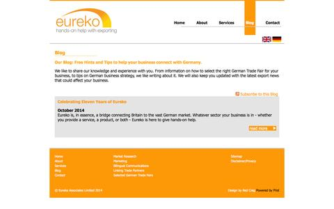 Screenshot of Blog eureko.co.uk - Blog | Eureko Associates Ltd - captured Oct. 28, 2014
