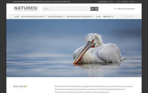 Screenshot of About Page natureslens.co.uk - About Us | NaturesLens - captured Oct. 20, 2018