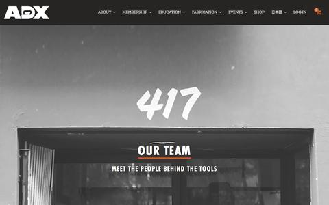 Screenshot of Team Page adxportland.com - Team| ADX | Art Design Portland | - captured July 23, 2016