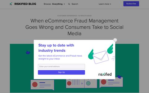 Screenshot of Team Page riskified.com - When Customers Turn to Social Media After Fraud | Riskified Blog - captured Feb. 20, 2020