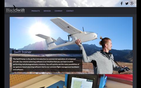 Screenshot of Products Page blackswifttech.com - Black Swift Technologies - captured Feb. 7, 2016