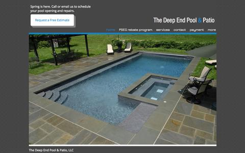 Screenshot of Home Page thedeependpool.com - thedeependpool - captured Oct. 7, 2014