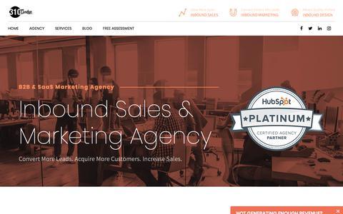 Screenshot of Home Page 310creative.com - B2B SaaS Marketing Agency & Platinum HubSpot partner - captured Aug. 16, 2019