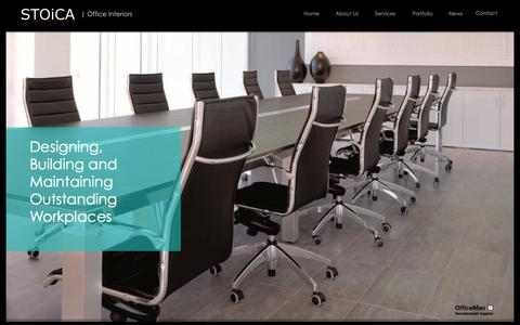 Screenshot of Home Page stoica-office.co.uk - Office fit out London..Office Refurbishment London..Moving office - captured Oct. 7, 2014