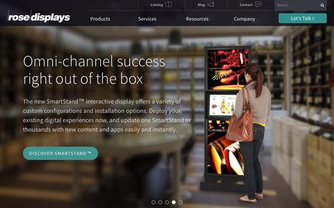 Screenshot of Home Page rosedisplays.com - Shop Retail Display Solutions | Rose Displays - captured Feb. 24, 2016