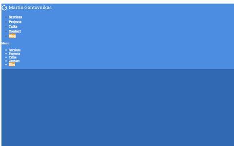 Screenshot of Blog gon.to - Blog | Martin Gontovnikas: Freelance Software Architect - captured Nov. 2, 2014