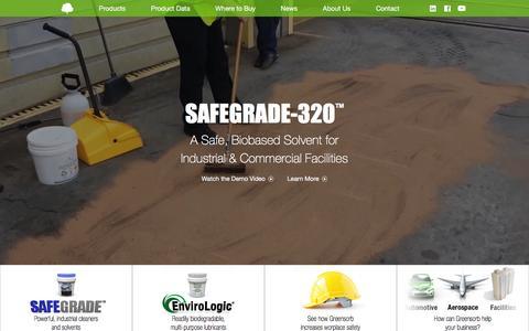 Screenshot of Home Page greensorb.com - Sorbent Green - captured March 29, 2016