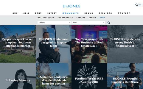 Screenshot of Press Page dijones.com.au - News | Di Jones Real Estate - captured Sept. 24, 2018