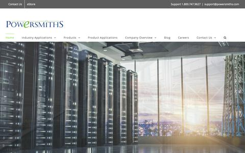Screenshot of Home Page powersmiths.com - Powersmiths | Transformers, PDUs, Submeters, Resource Management - captured Aug. 12, 2017