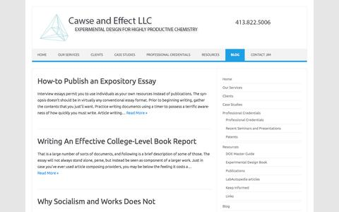 Screenshot of Blog cawseandeffect.com - Blog - Cawse and Effect LLC - captured July 18, 2017