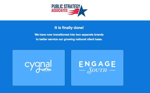 Screenshot of Home Page mypublicstrategy.com - Public Strategy Associates - captured Oct. 3, 2014