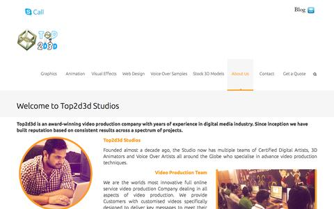 Screenshot of About Page top2d3d.com - About Us | Animated Video Production Studio - captured Oct. 1, 2014