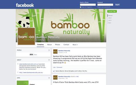 Screenshot of Facebook Page facebook.com - Bamboo Naturally | Facebook - captured Oct. 23, 2014