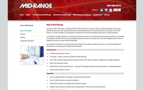 Screenshot of About Page midrange.ca - About Mid-Range | Mid-Range - captured Oct. 27, 2014