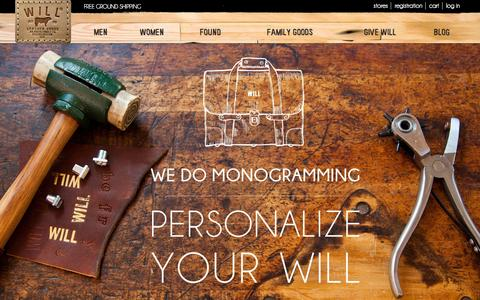 Screenshot of Login Page willleathergoods.com - Will Leather Goods - captured Nov. 3, 2014