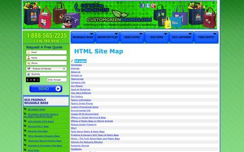 Screenshot of Blog Site Map Page customgreenpromos.com - Sitemap - Custom Green Promos - captured Oct. 23, 2014