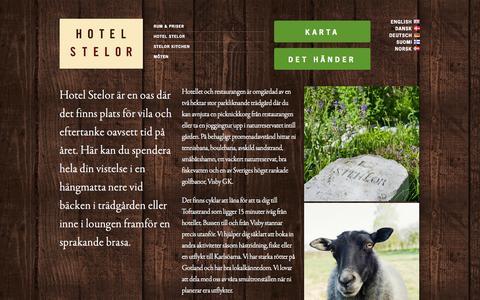 Screenshot of About Page stelor.se - Om Hotel Stelor - Ett hotell på Gotland, nära golf, bad och Visby - captured Oct. 7, 2014