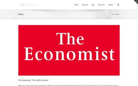 Screenshot of Press Page air-commerce.com - AirCommerce   –  Media - captured Sept. 30, 2014