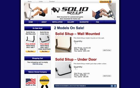 Screenshot of Products Page solidsitup.com - 2 Models On Sale! | Solid Situp - captured Oct. 6, 2014