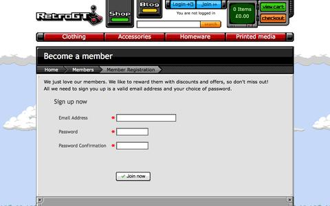Screenshot of Signup Page retrogt.com - Become a member of Retro GT Ltd | Retro gaming shop - captured Oct. 26, 2014