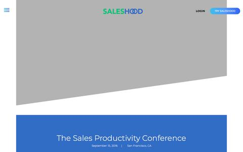 SalesHood - Sales Productivity Conference