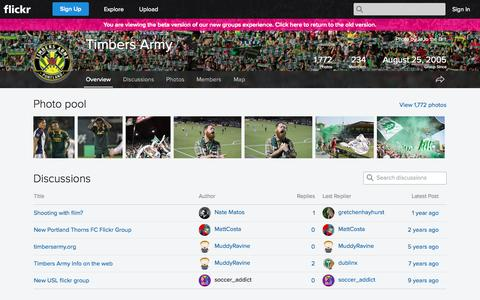 Screenshot of Flickr Page flickr.com - Flickr: The Timbers Army Pool - captured Nov. 5, 2014