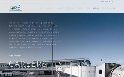 Screenshot of Jobs Page naco.nl - Careers - NACO Airport Consultancy and Engineering - captured Nov. 15, 2017