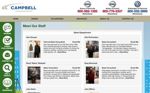 Screenshot of Team Page campbellautogroup.com - Meet Our Staff | Campbell Nelson - captured Oct. 20, 2016