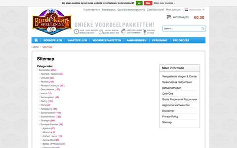Screenshot of Site Map Page bordenkaartspellen.nl - Sitemap - Bord en Kaartspellen.nl - captured Oct. 5, 2014