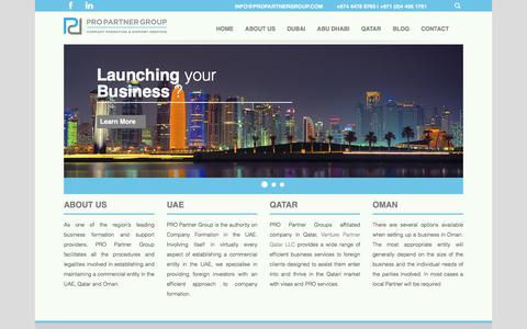 Screenshot of Home Page pro-partnership.com - Start a business in Qatar, Branch office in Qatar, PRO company in Qatar - captured July 9, 2017